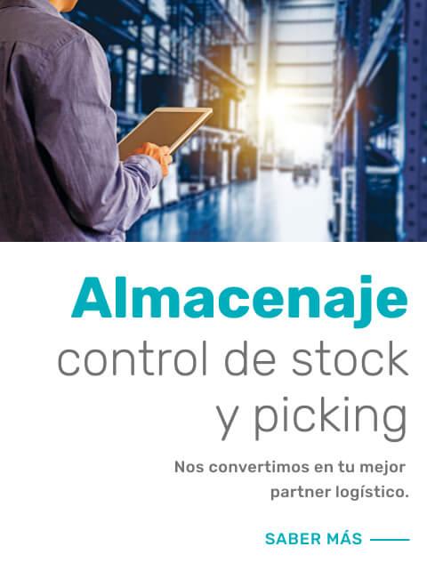 Almacenaje, control de stock y picking